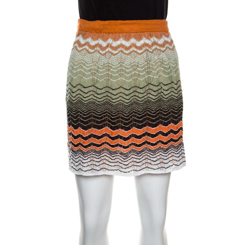 8200539ef ... M Missoni Multicolor Perforated Knit Mini Skirt S. nextprev. prevnext