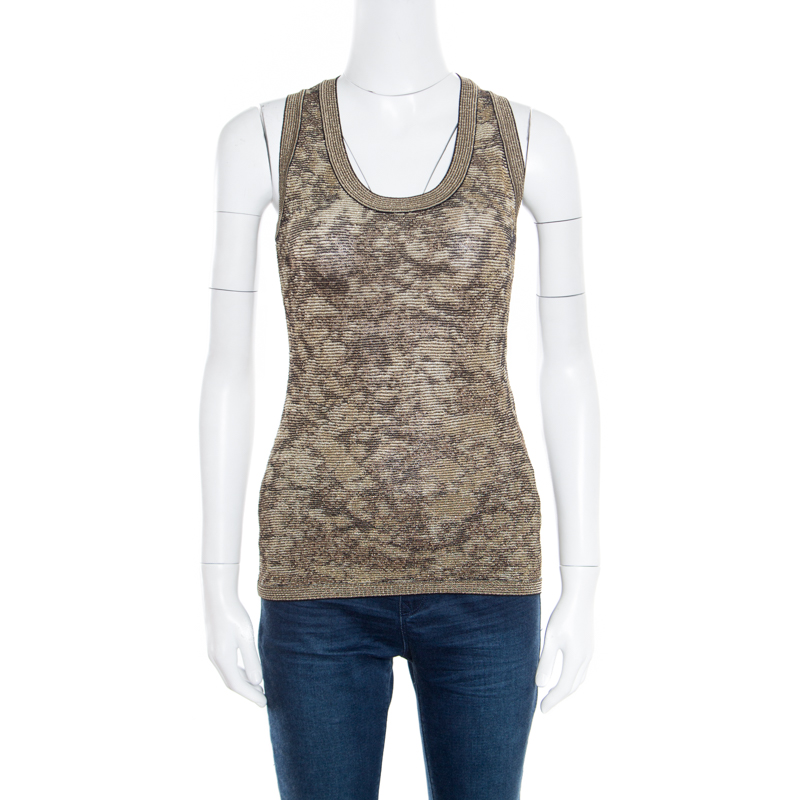 ebfd7fd83cb5af ... M Missoni Metallic Jacquard Knit Sleeveless Top M. nextprev. prevnext