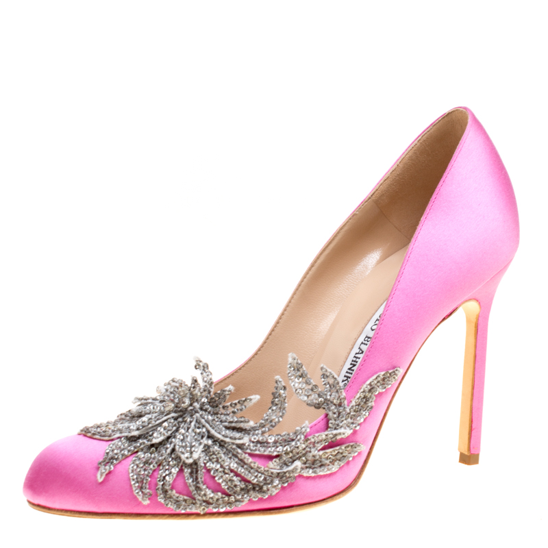 manolo blahnik shoes pink
