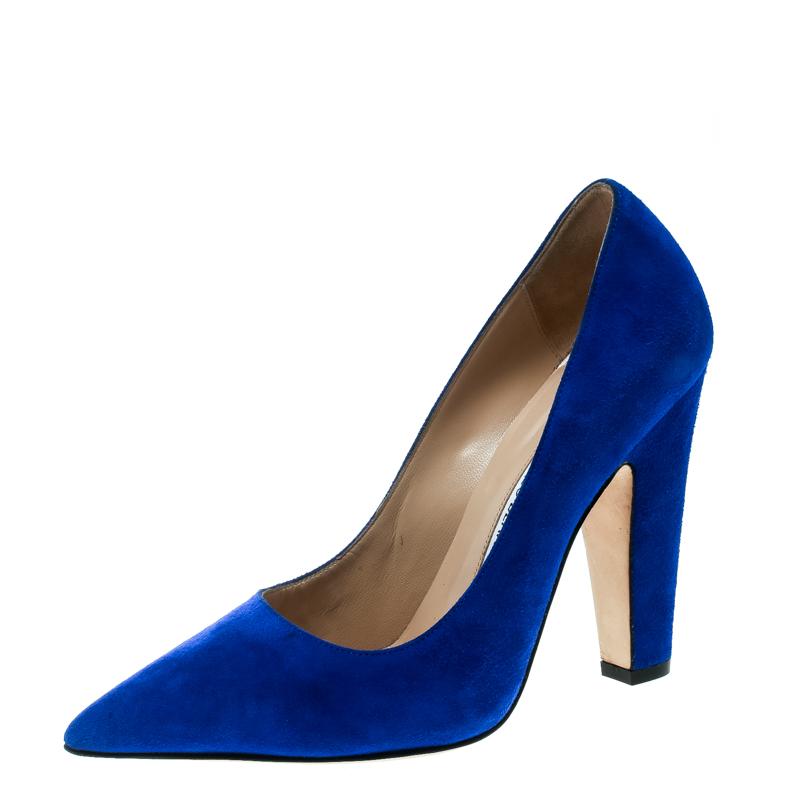 ... Royal Blue Suede Alba Pointed Toe Pumps Size 38. nextprev. prevnext