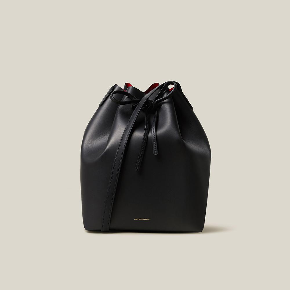 حقيبة منصور غافرييل باكيت جلد أسود