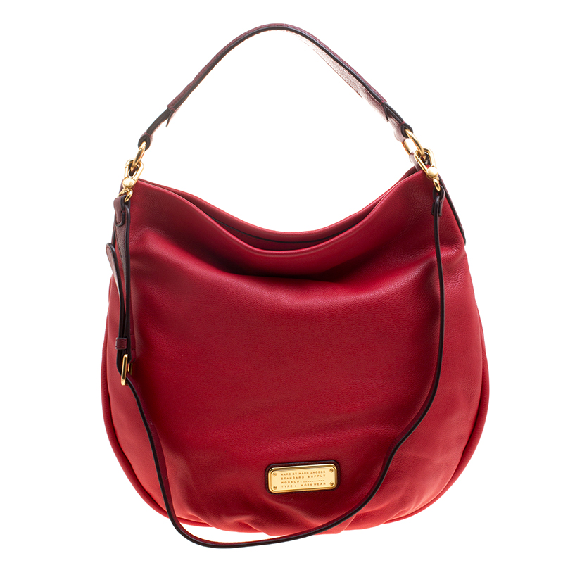 a65ddd1041b Buy Marc by Marc Jacobs Red Leather New Q Hillier Hobo 123805 at ...