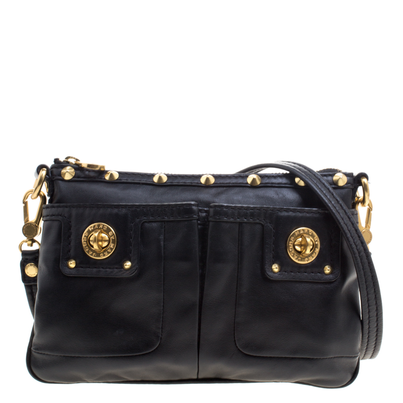 4b3dee002e0 Buy Marc by Marc Jacobs Black Leather Crossbody Bag 102546 at best ...