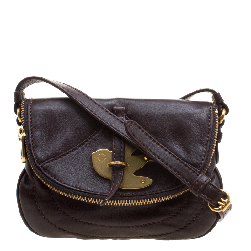 ee168c5c3c9 Buy Marc by Marc Jacobs Brown Leather Petal to the Metal Crossbody ...