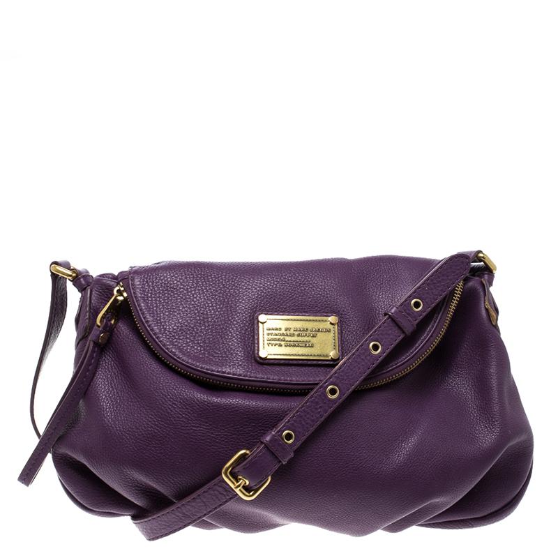defcc1b16e9 Buy Marc by Marc Jacobs Purple Leather Classic Q Natasha Crossbody ...