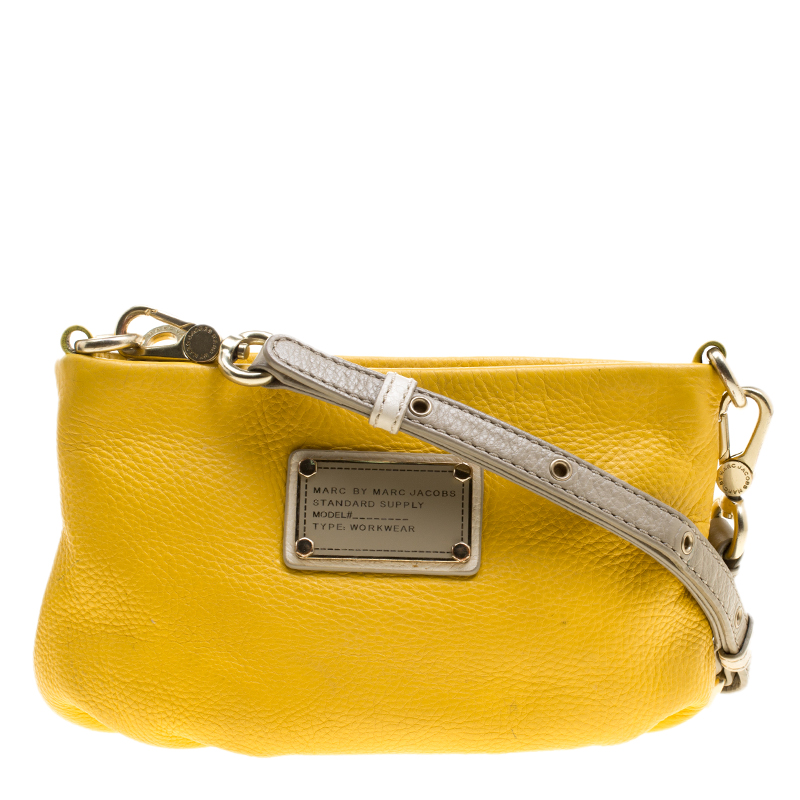 f438c8055beb ... Marc Jacobs Yellow Leather Classic Q Percy Crossbody Bag. nextprev.  prevnext