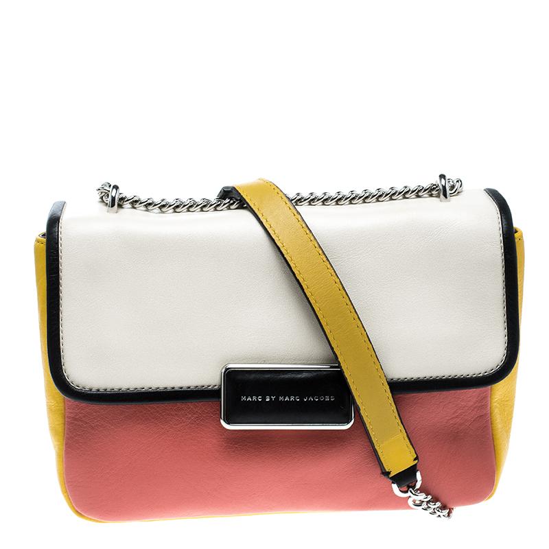 fff5ec58beb6 ... Marc Jacobs Colorblock Leather Rebel 24 Shoulder Bag. nextprev. prevnext