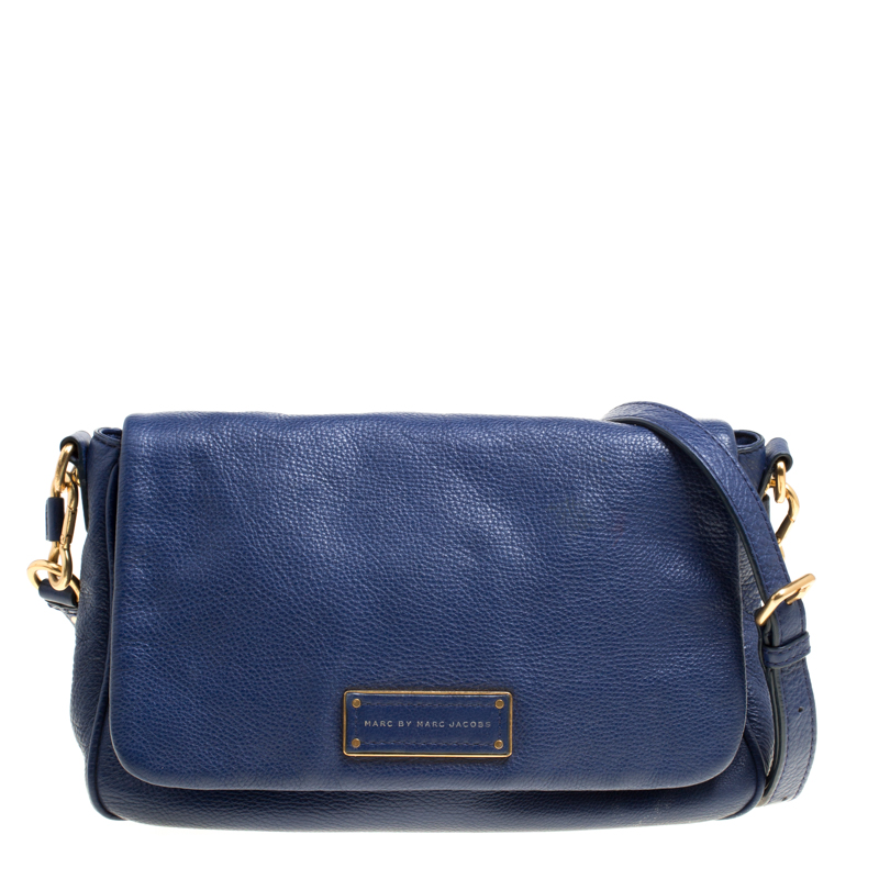 Marc Jacobs Blue Glazed Leather Too Hot