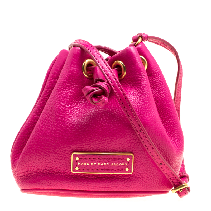 959940775 ... Marc Jacobs Hot Pink Leather Mini Too Hot to Handle Drawstring Bucket Crossbody  Bag. nextprev. prevnext