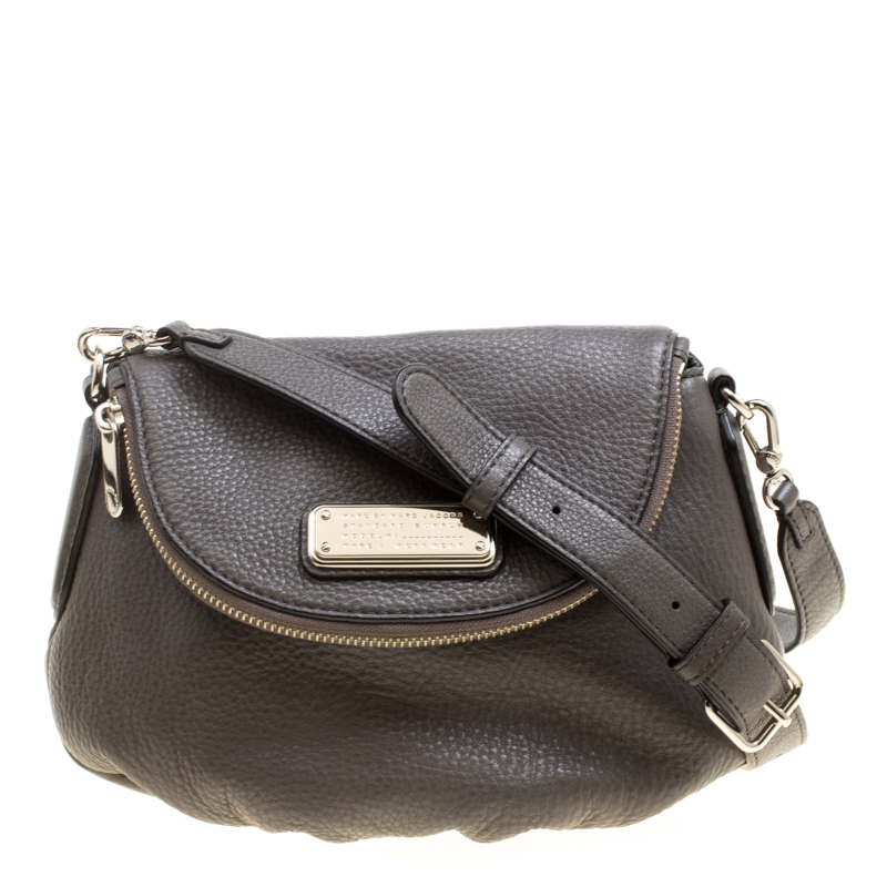 5defc798a Buy Marc by Marc Jacobs Grey Leather Classic Q Natasha Crossbody Bag ...
