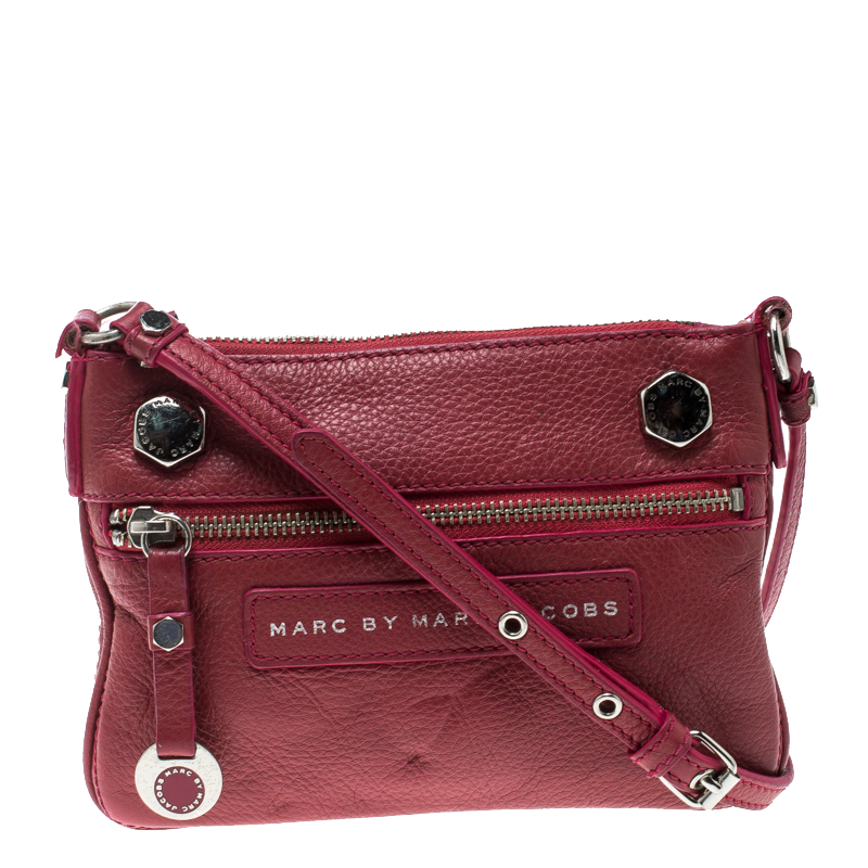 b3df9f65e5a Marc by Marc Jacobs Pink Pebbled Leather Crossbody Bag