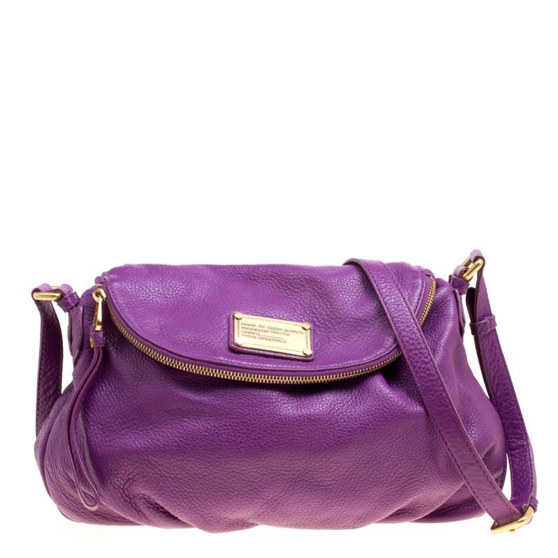 03e34ea85c13 ... Crossbody Bag Nextprev Prevnext. Marc By Jacobs Purple Leather Clic Q  Natasha Crossbody