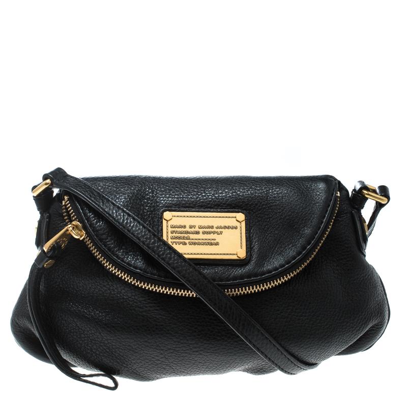 ee93cd826553 ... Marc Jacobs Black Leather Classic Q Natasha Crossbody Bag. nextprev.  prevnext