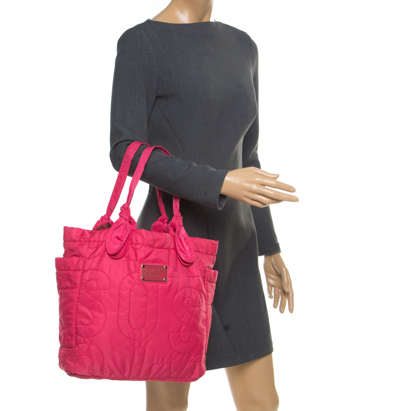 Marc by Marc Jacobs Pink Nylon Medium Pretty Tate Tote