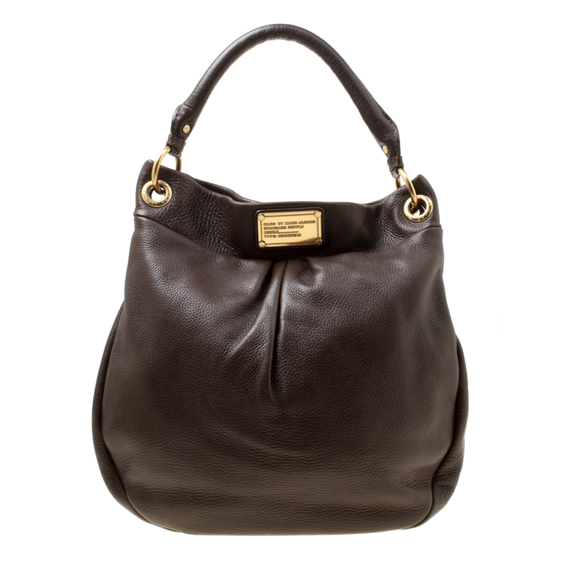 09f4ef18ca4 Buy Marc by Marc Jacobs Brown Leather Classic Q Hillier Hobo 176249 at best  price | TLC