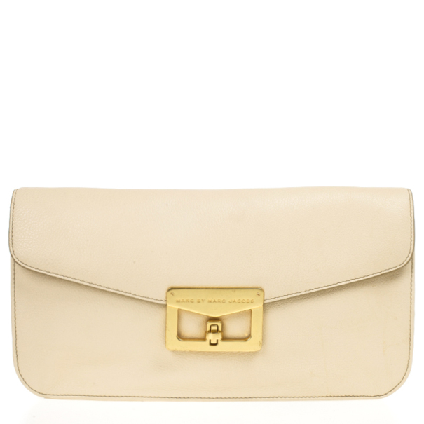 62f904d518d Buy Marc by Marc Jacobs Cream Bianca Clutch 18099 at best price | TLC