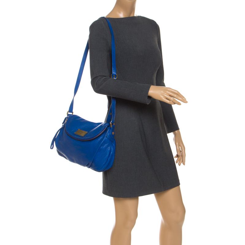 Marc by Marc Jacobs Blue Leather Classic Q Natasha Flap Bag