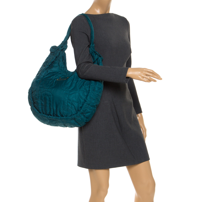 Marc by Marc Jacobs Green Nylon Workwear Hobo