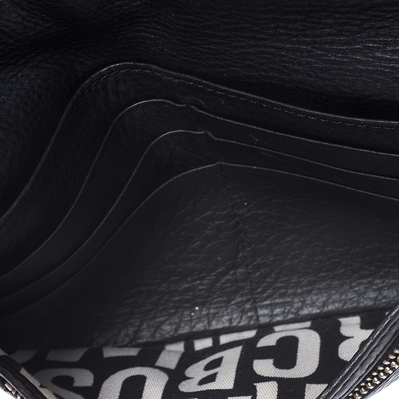 Marc by Marc Jacobs Black Leather Turnlock Flap Wallet