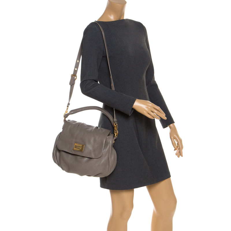Marc by Marc Jacobs Grey Leather Classic Q Lil Ukita Top Handle Bag
