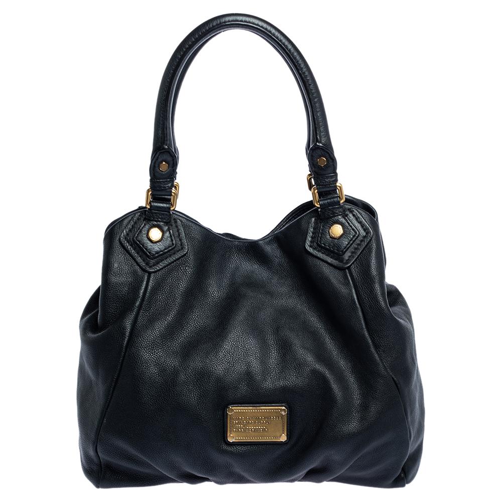 Pre-owned Marc By Marc Jacobs Black Leather Classic Q Francesca Shoulder Bag