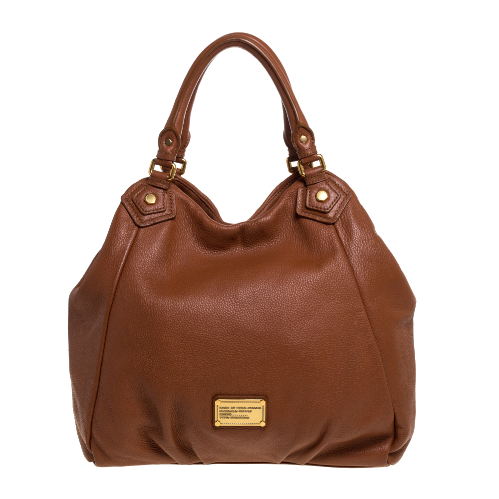 Pre-owned Marc By Marc Jacobs Brown Leather Classic Q Francesca Shoulder Bag