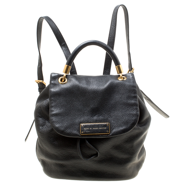 8d6b11d01f Buy Marc by Marc Jacobs Black Leather Too Hot to Handle Backpack ...
