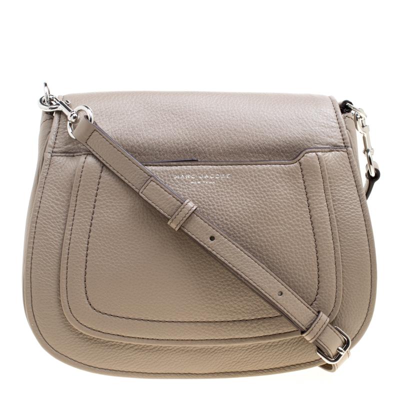 01696165d47 ... Marc Jacobs Beige Leather Empire City Saddle Crossbody Bag. nextprev.  prevnext