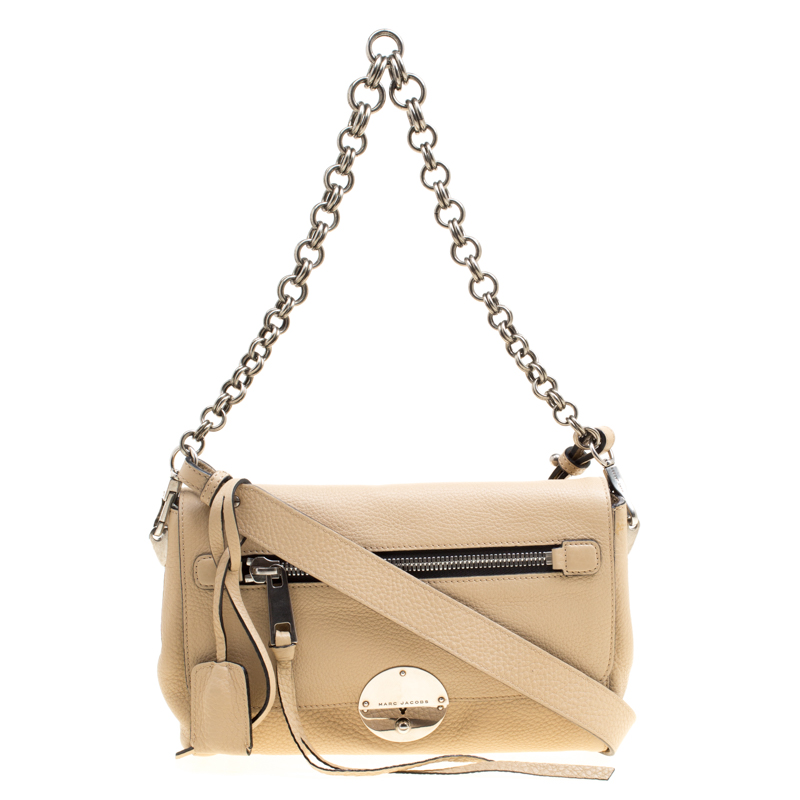2b1a3b6658c ... Marc Jacobs Beige Pebbled Leather Small Big Apple Gotham Shoulder Bag.  nextprev. prevnext
