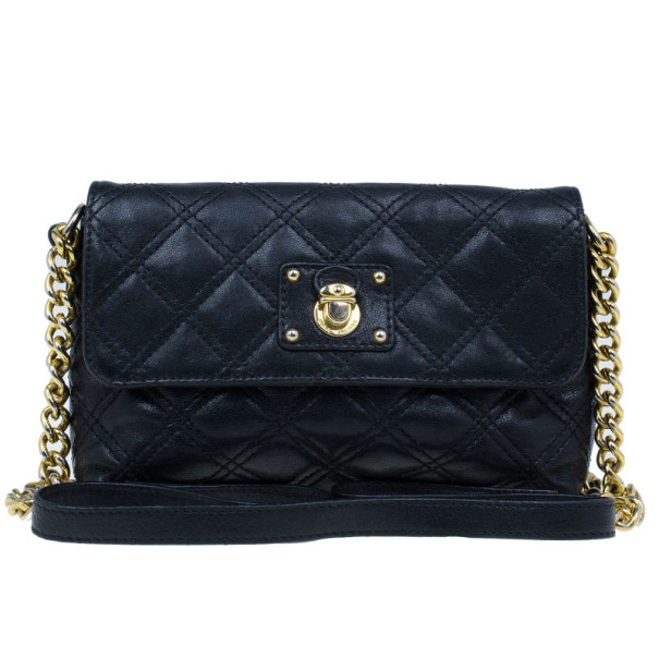 fd64d868db8a ... Marc Jacobs Black Quilted Leather Day To Night Single Crossbody Bag.  nextprev. prevnext