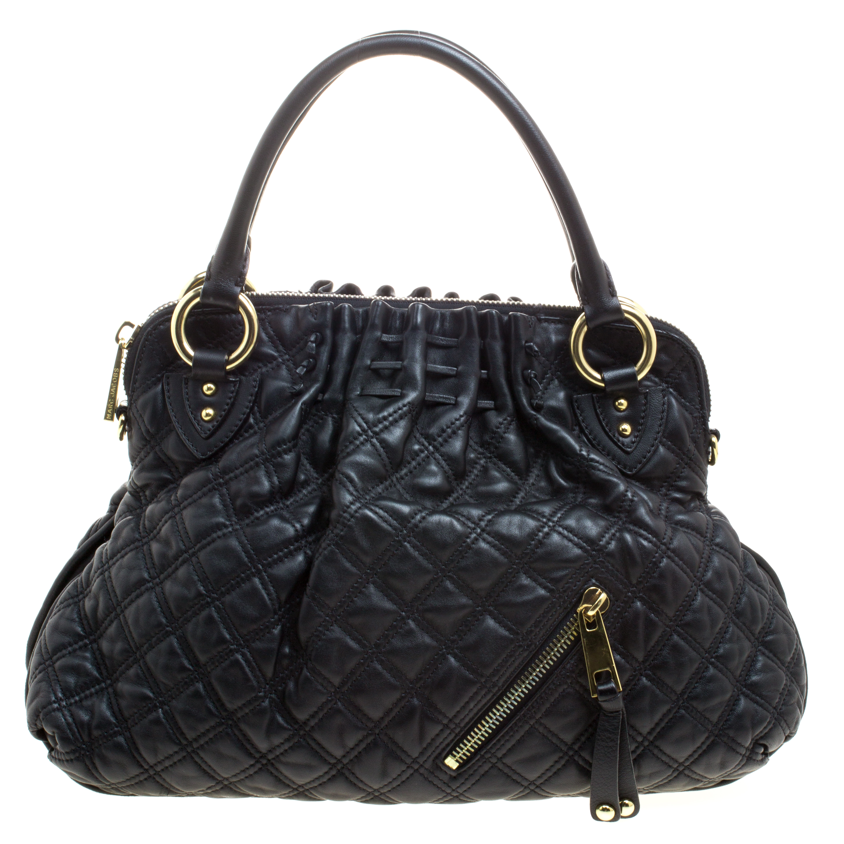 20effbff4a6ab Marc Jacobs Black Quilted Leather Cecilia Satchel 109864 At Best. Marc  Jacobs Mark Bag ...