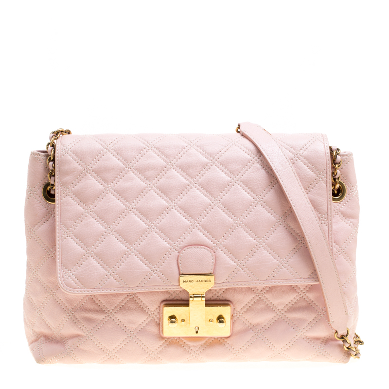 Marc Jacobs Pink Quilted Leather Baroque Shoulder Bag 150446 At c86e037b70d21
