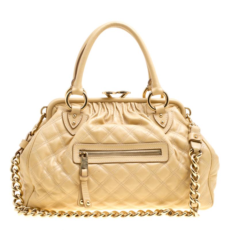 1fddaf8aa4 ... Marc Jacobs Cream Quilted Leather Stam Shoulder Bag. nextprev. prevnext