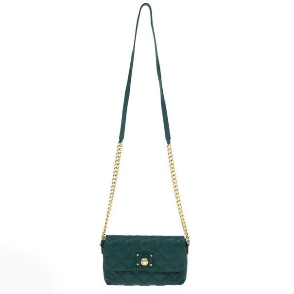 5ce37649fc257 ... Marc Jacobs Green Quilted Leather Small Single Shoulder Bag. nextprev.  prevnext