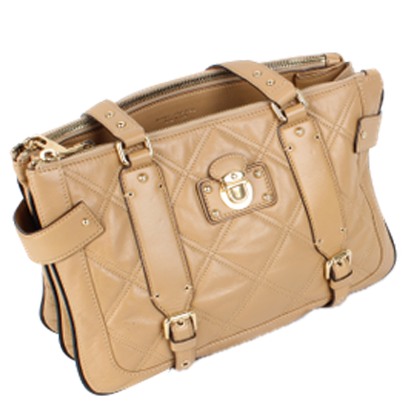 Marc Jacobs Beige Matelasse Leather Bag