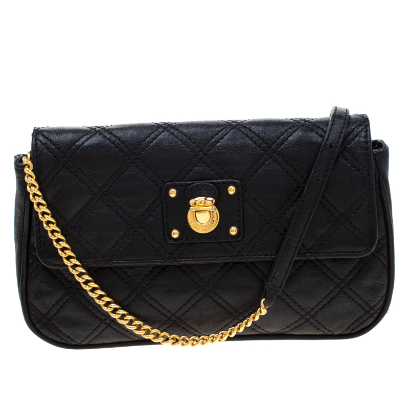 Marc Jacobs Black Quilted Leather Small