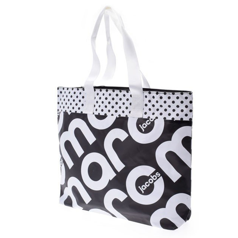 Marc Jacobs Black/White Tarpaulin Tote Bag