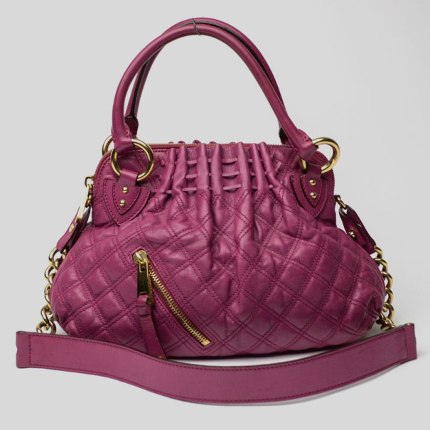 1cd82ec55a22 ... Marc Jacobs Purple Quilted Calf Leather Small Cecilia Bag. nextprev.  prevnext