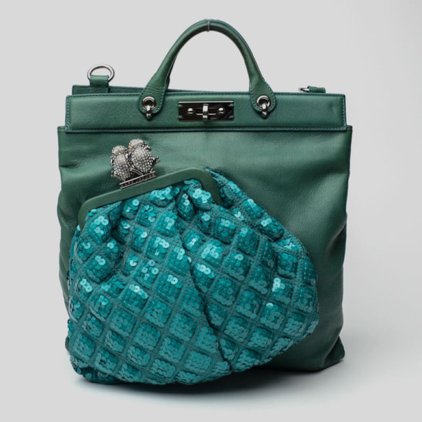 d333a09c2942 ... Marc Jacobs Green Leather and Sequin Bag on Bag. nextprev. prevnext