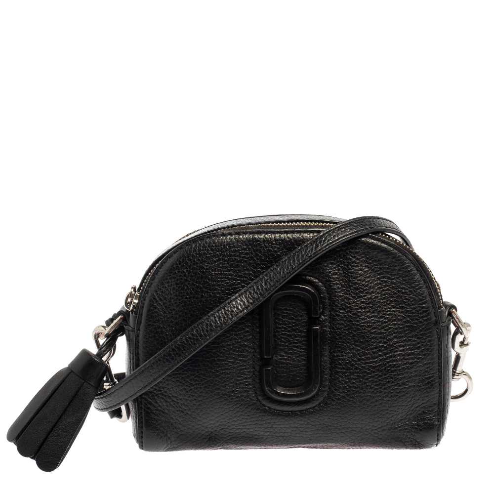 Pre-owned Marc Jacobs Black Leather Shutter Camera Crossbody Bag
