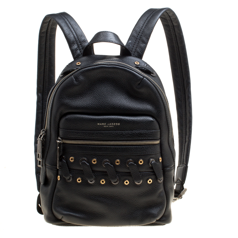 buy sale many choices of choose best Marc Jacobs Black Leather Grommet Biker Backpack