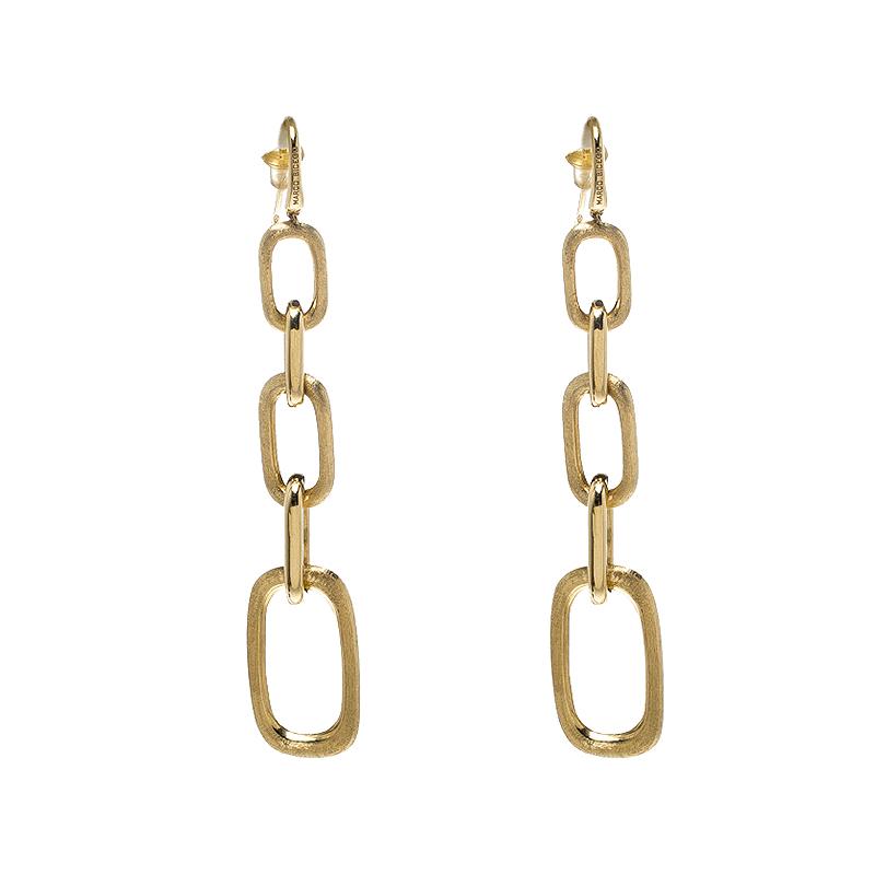 Marco Bicego Murano 18K Yellow Gold Graduating Link Drop Earrings