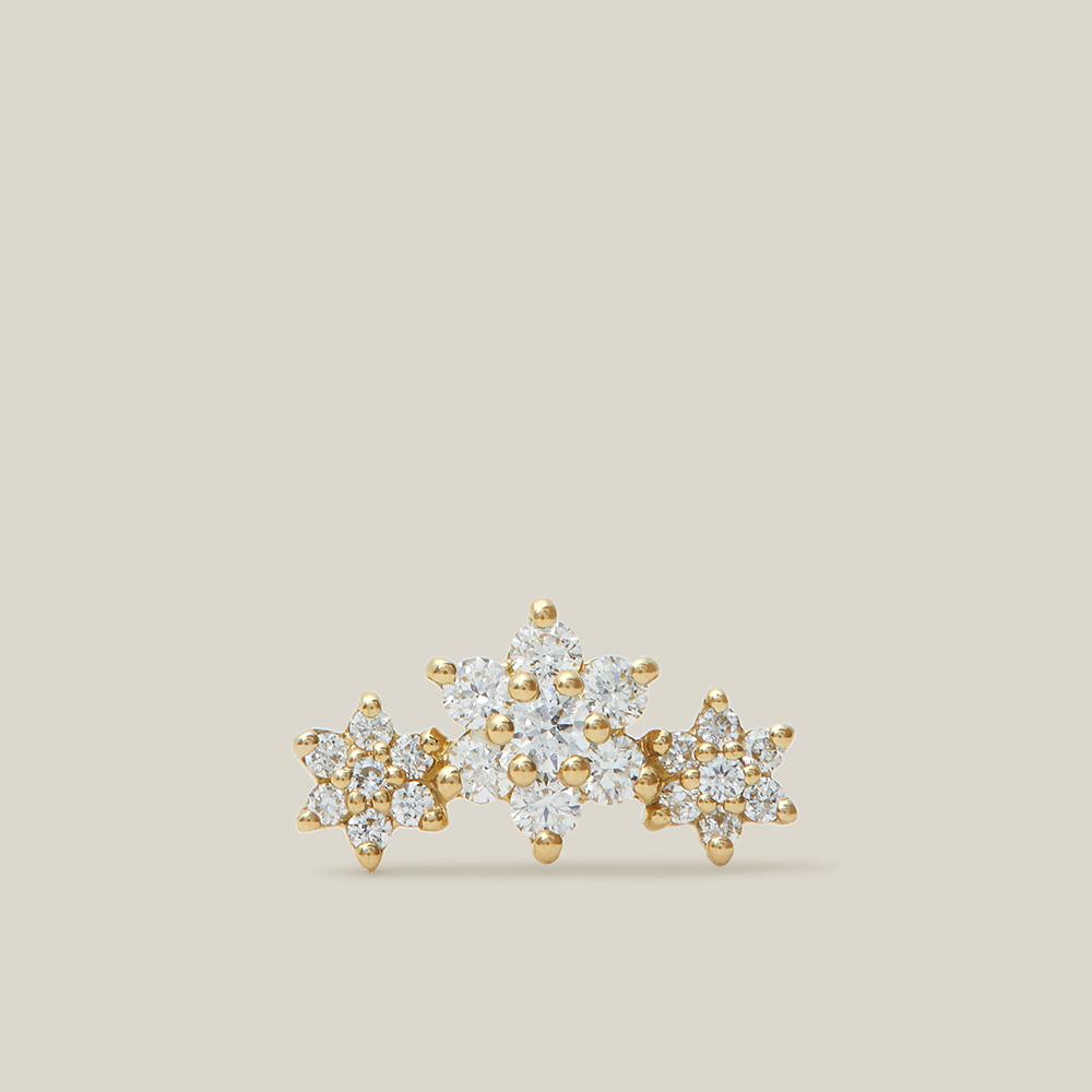 Maria Tash Gold Garland Star Diamond and Yellow-Gold Single Stud