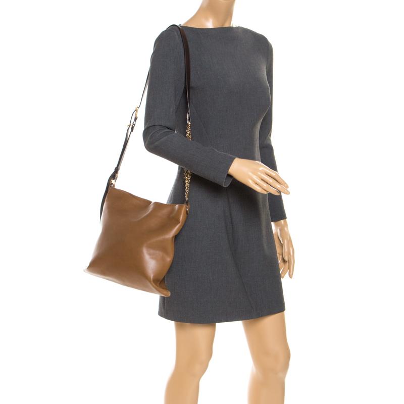 Marni Brown Leather Messenger Bag