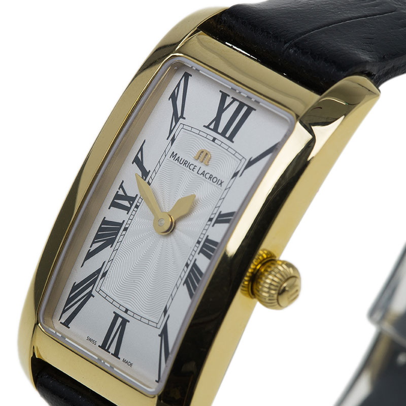 Maurice Lacroix Cream Gold-Plated Fiaba Women's Wristwatch 20MM