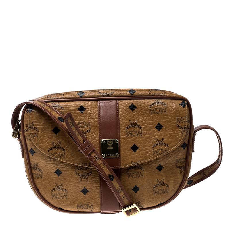8941ec3656 ... MCM Cognac Visetos Coated Canvas Crossbody Bag. nextprev. prevnext