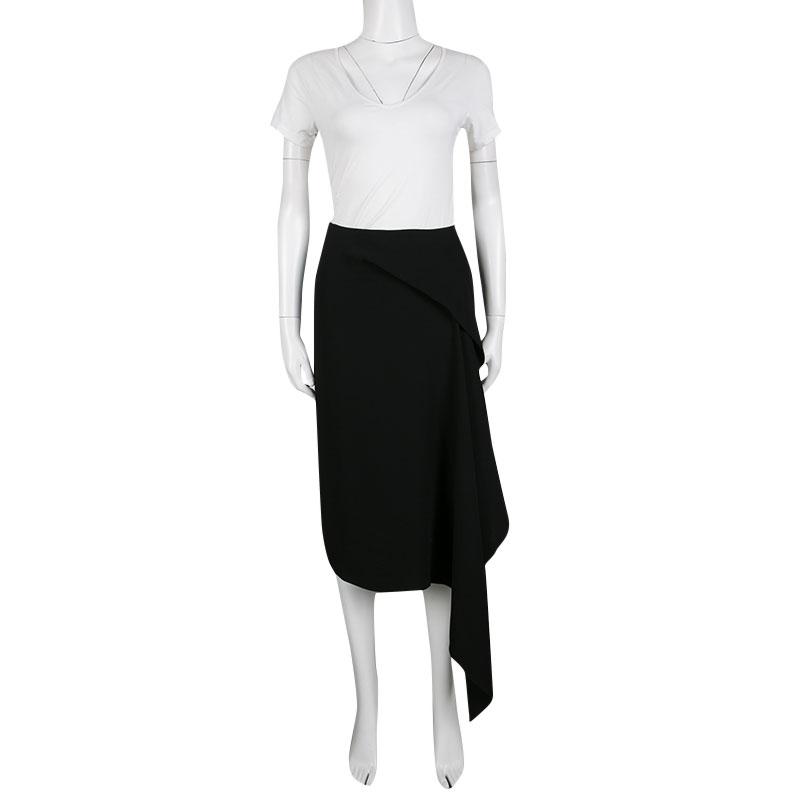 MCQ By Alexander McQueen Black Handkerchief Drape Asymmetric Skirt