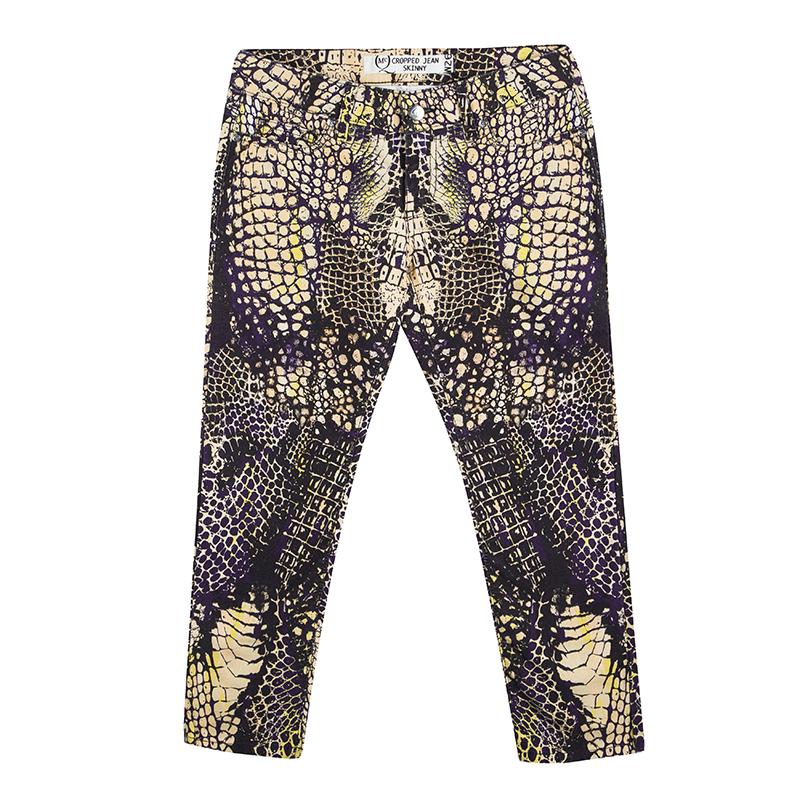 Купить со скидкой MCQ by Alexander McQueen Multicolor Printed Cropped Skinny Jeans S