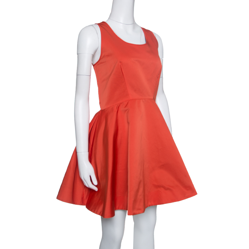 McQ by Alexander McQueen Red Sleeveless Volume Tank Dress