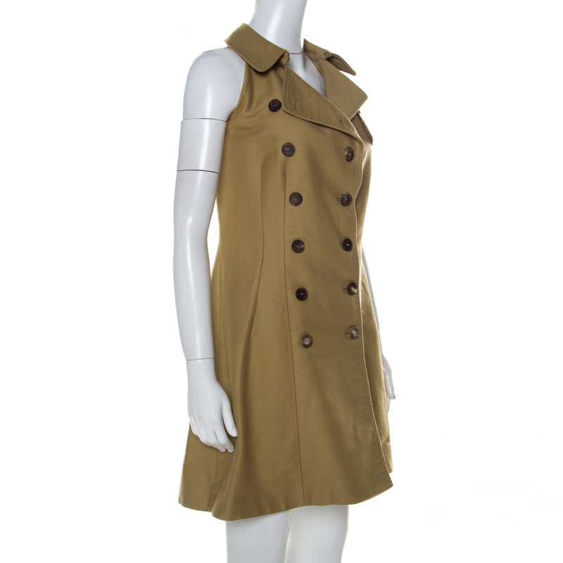 McQ by Alexander McQueen Beige Cotton Trench Style Dress